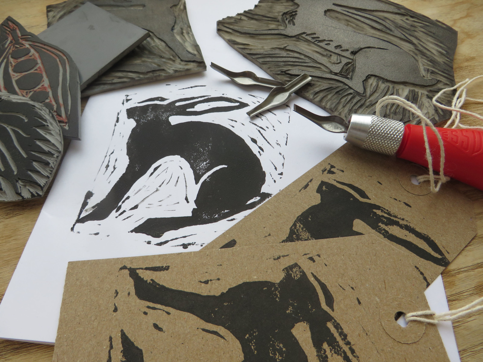 Printing Your Own Christmas Cards.Lino Printing Workshop Christmas Cards National Centre