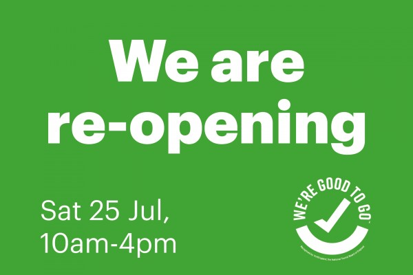 We are re-opening